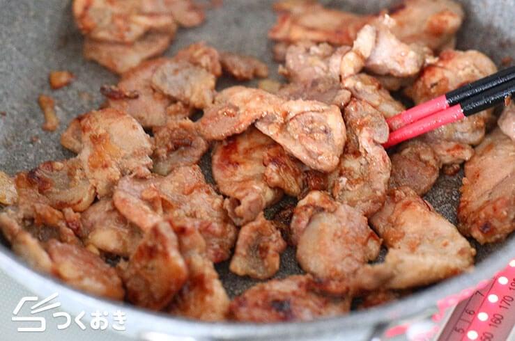 豚肉のガーリック醤油ソテーの手順写真その3