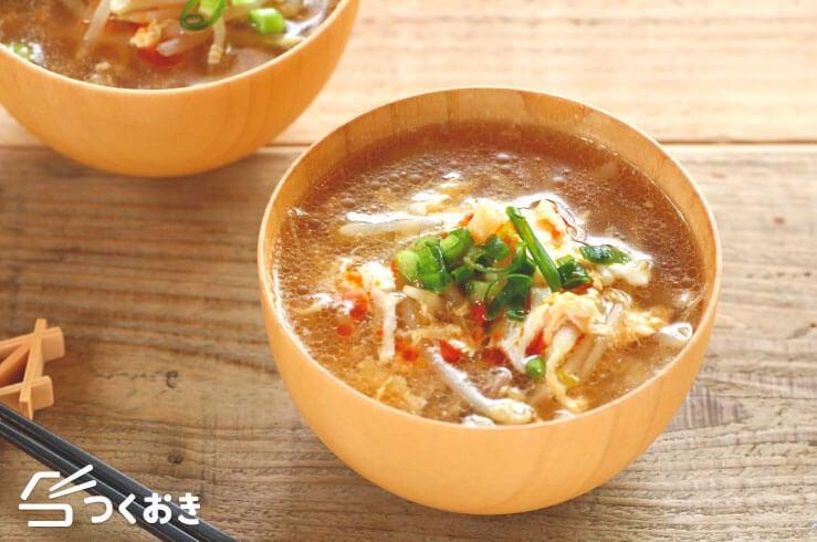 豚肉もやしのサンラータン(酸辣湯)の料理写真