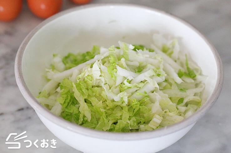 ふんわり卵の白菜あんかけの手順写真その1
