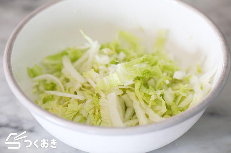 白菜の塩こんぶじゃこサラダの手順写真その2