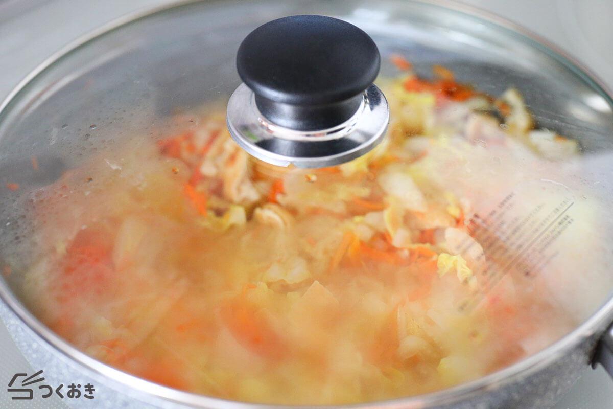 白菜のやさしい煮物の手順写真その3