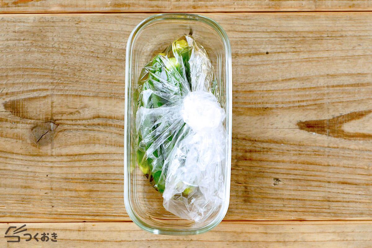 オクラのうま塩漬けの作り置き写真