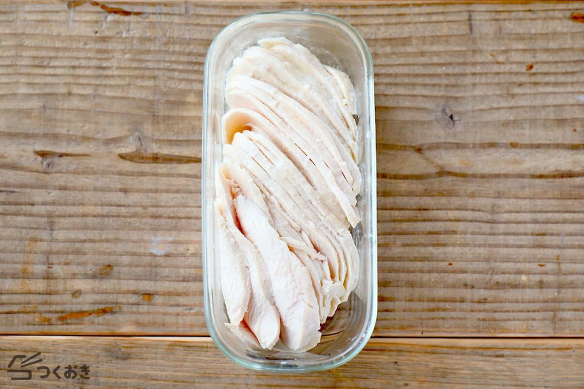 基本のサラダチキンの冷蔵保存写真その2
