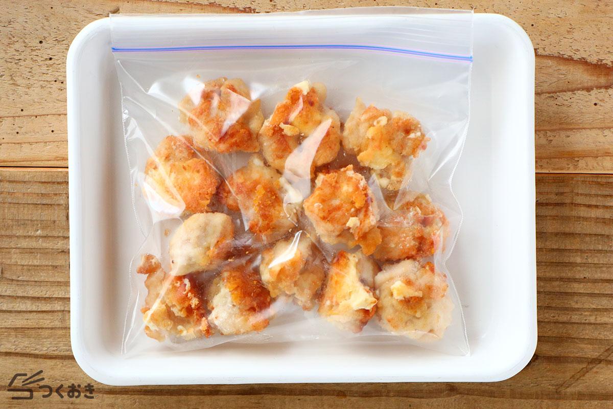 鶏むね肉のチキンチーズボールの冷凍保存写真