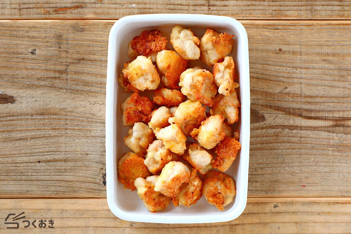 鶏むね肉のチキンチーズボールの冷蔵保存写真