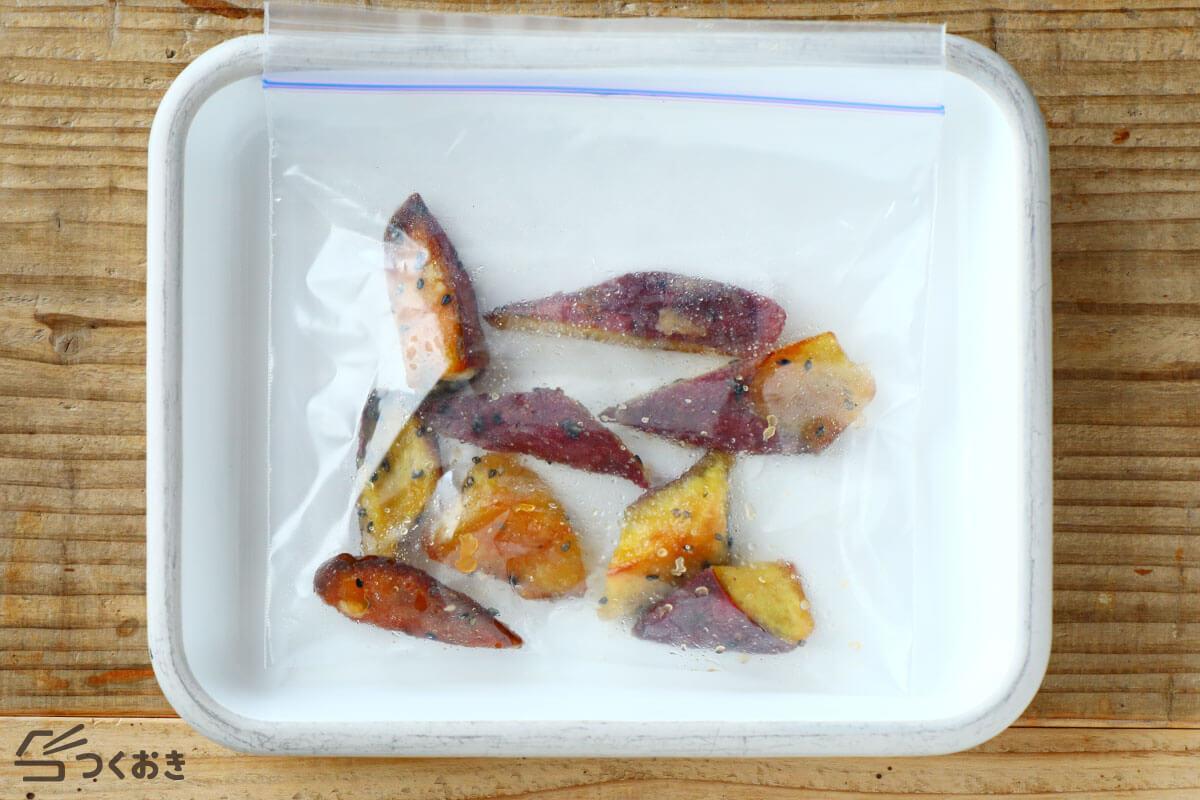 ほくほくカリカリ 大学芋の冷凍保存写真