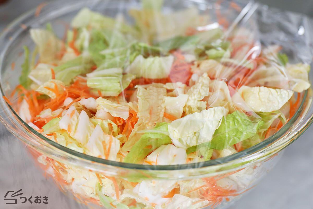 白菜とにんじんの和風マヨサラダの手順写真その2