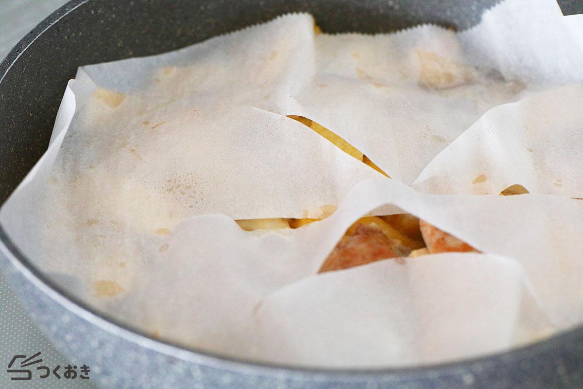 れんこんと鶏肉と油揚げの煮物の手順写真その3