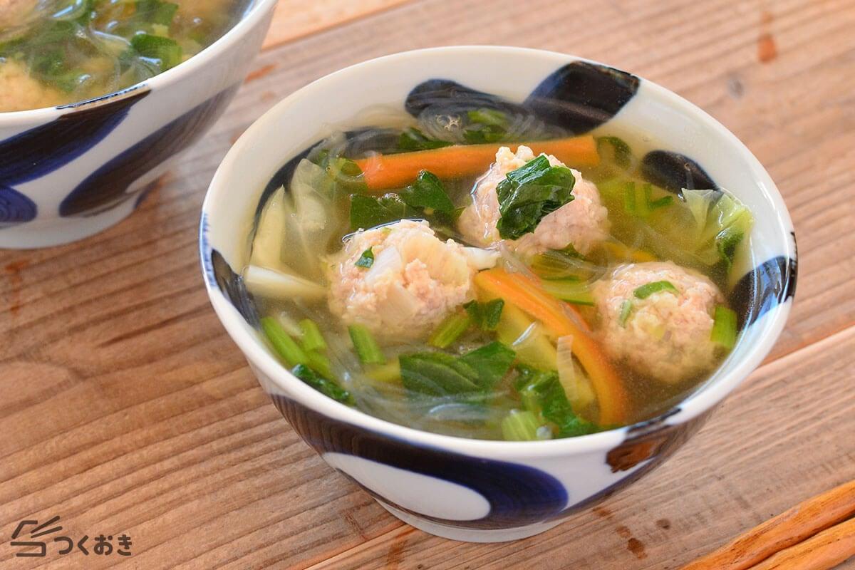 和風鶏だんご春雨スープ