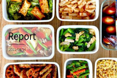 野菜たっぷりな副菜9品。週末まとめて作り置きレポート(2021/03/14)