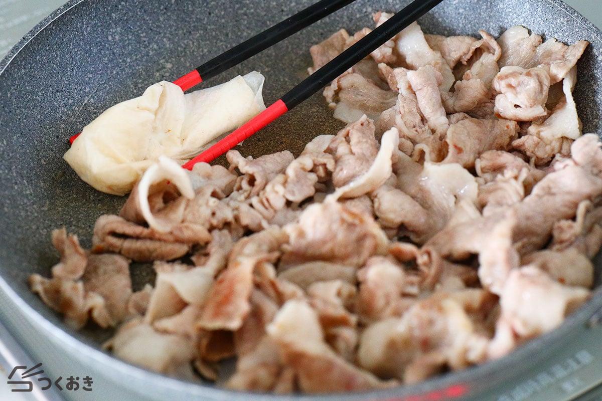 豚肉と大根のこってり炒め煮の手順写真その2