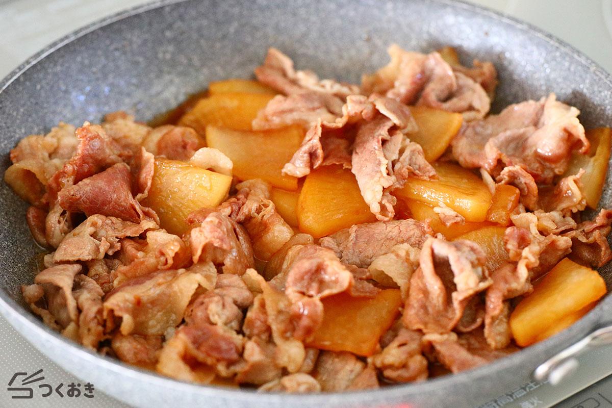 豚肉と大根のこってり炒め煮の手順写真その5