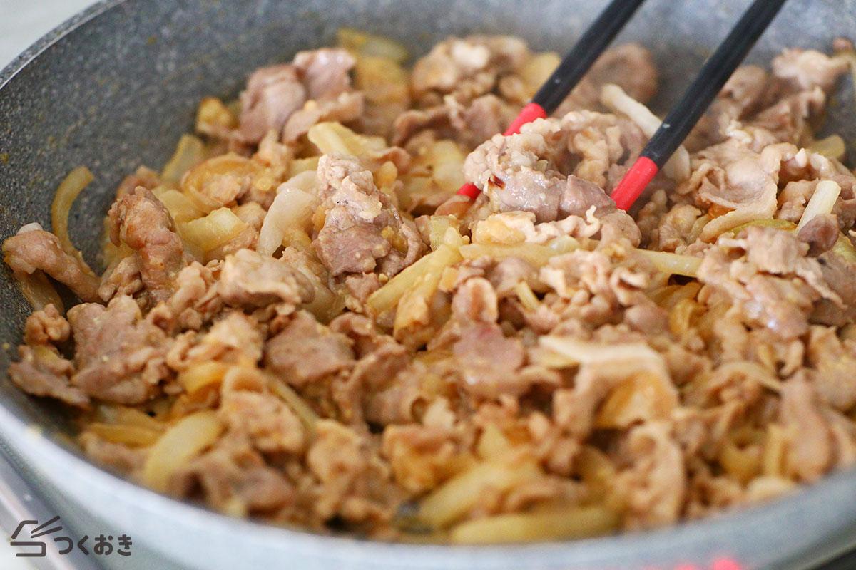 豚肉とたまねぎのみそマヨ炒めの手順写真その3