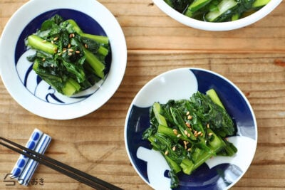 小松菜のうま塩漬けの写真