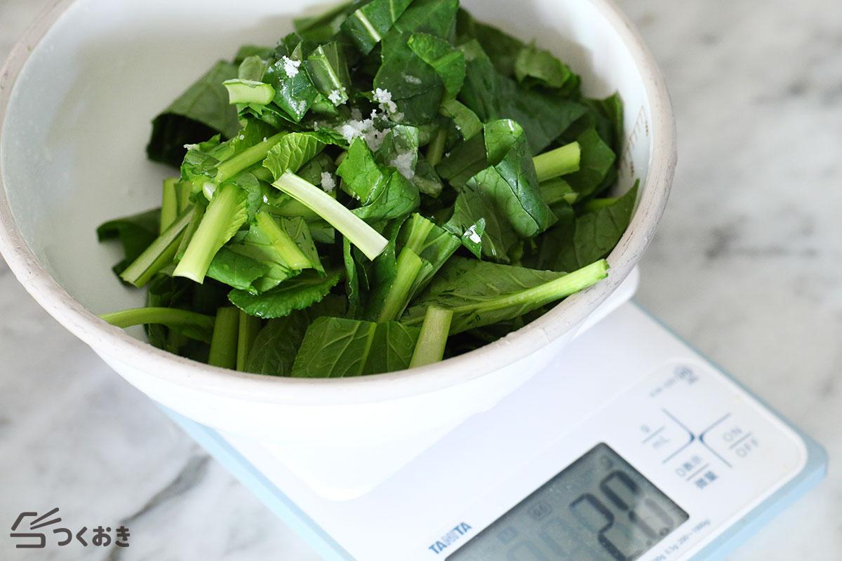 小松菜のうま塩漬けの手順写真その1