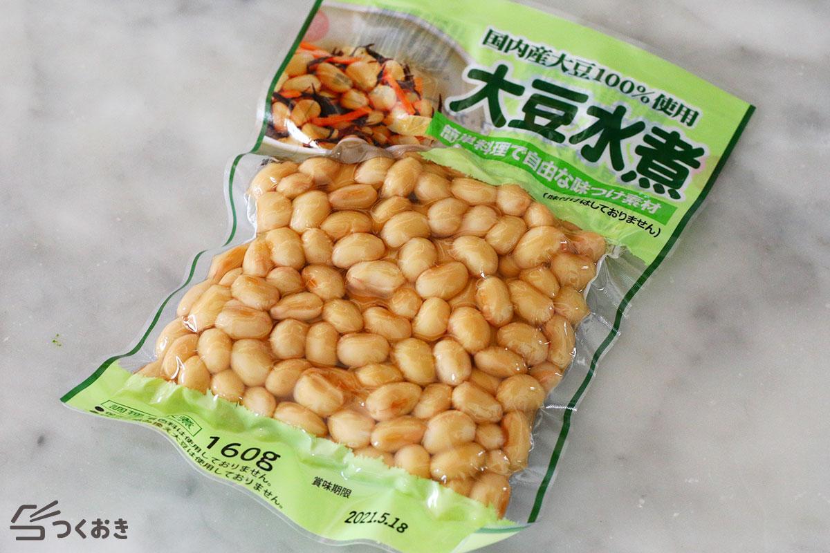 お豆とひじきのポークハンバーグの手順写真その1