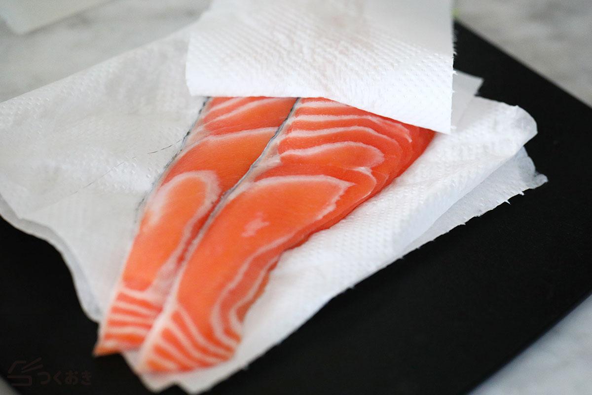 鮭のみりん漬け焼きの手順写真その1