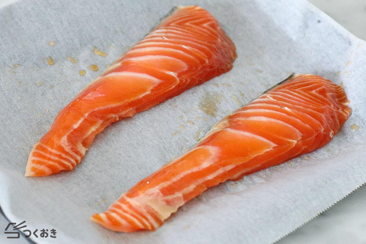 鮭のみりん漬け焼きの手順写真その3
