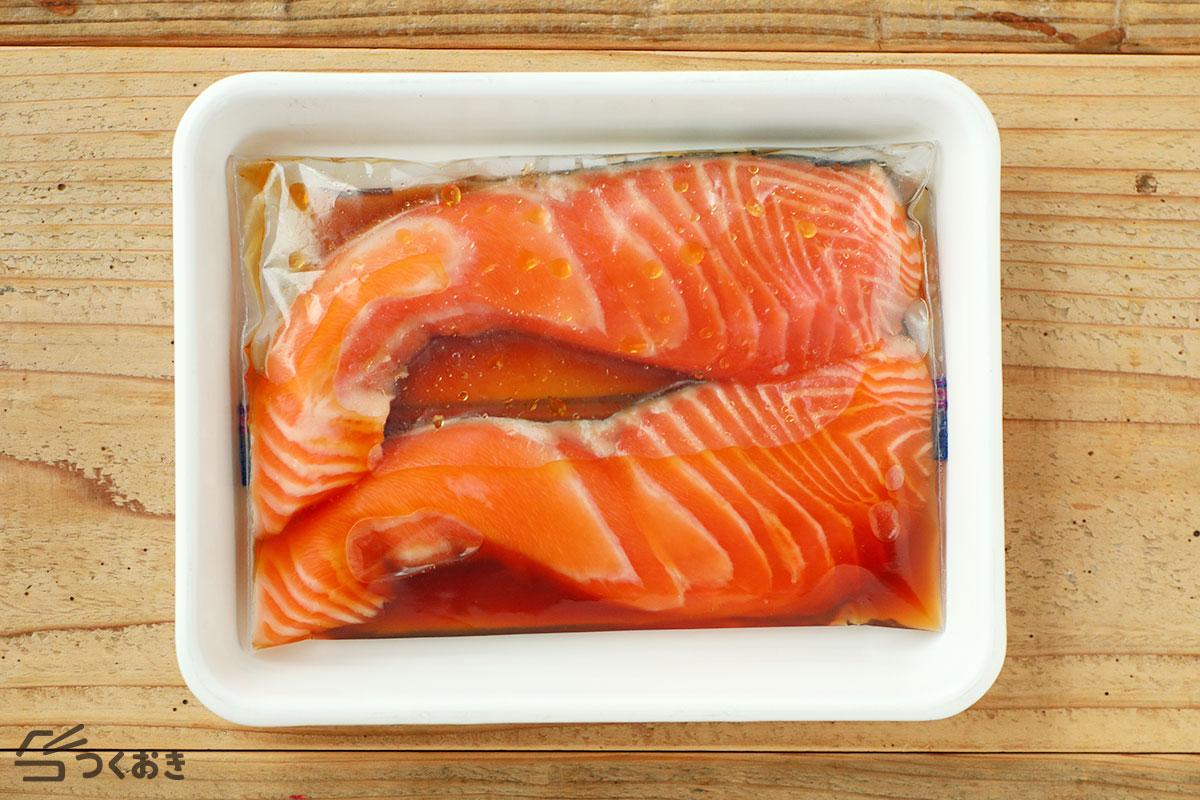 鮭のみりん漬け焼きの手順写真その2
