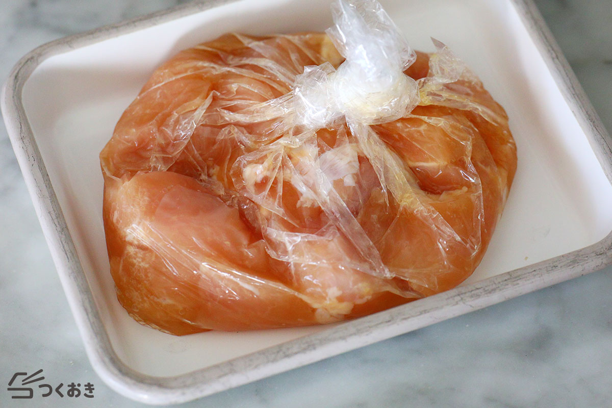 鶏むね肉の塩こうじから揚げの手順写真その1