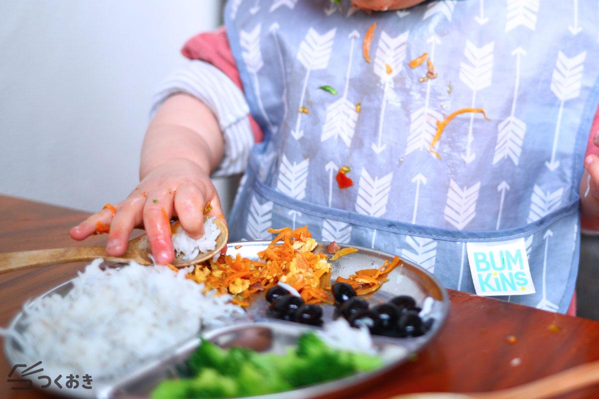 子どものご飯の様子