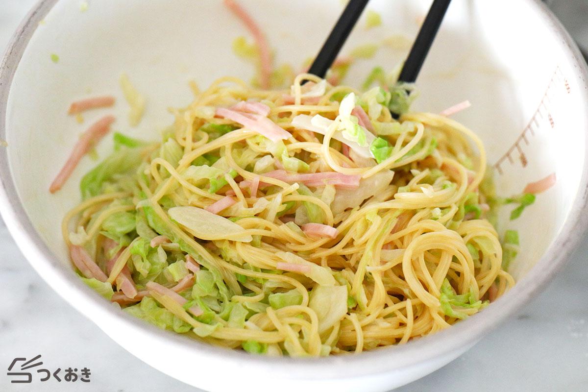 せん切りキャベツのサラダスパゲッティの手順写真その3