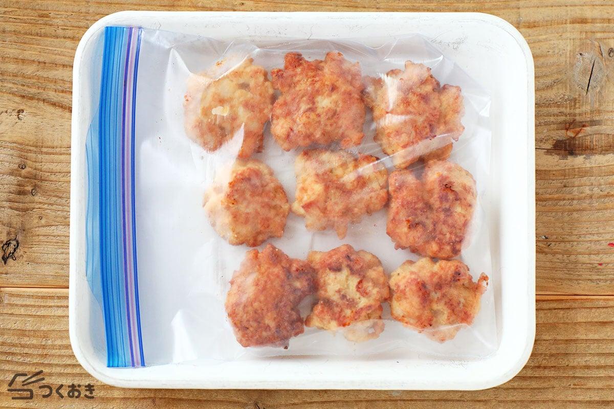 鶏むね肉のチキンナゲットの冷凍保存写真