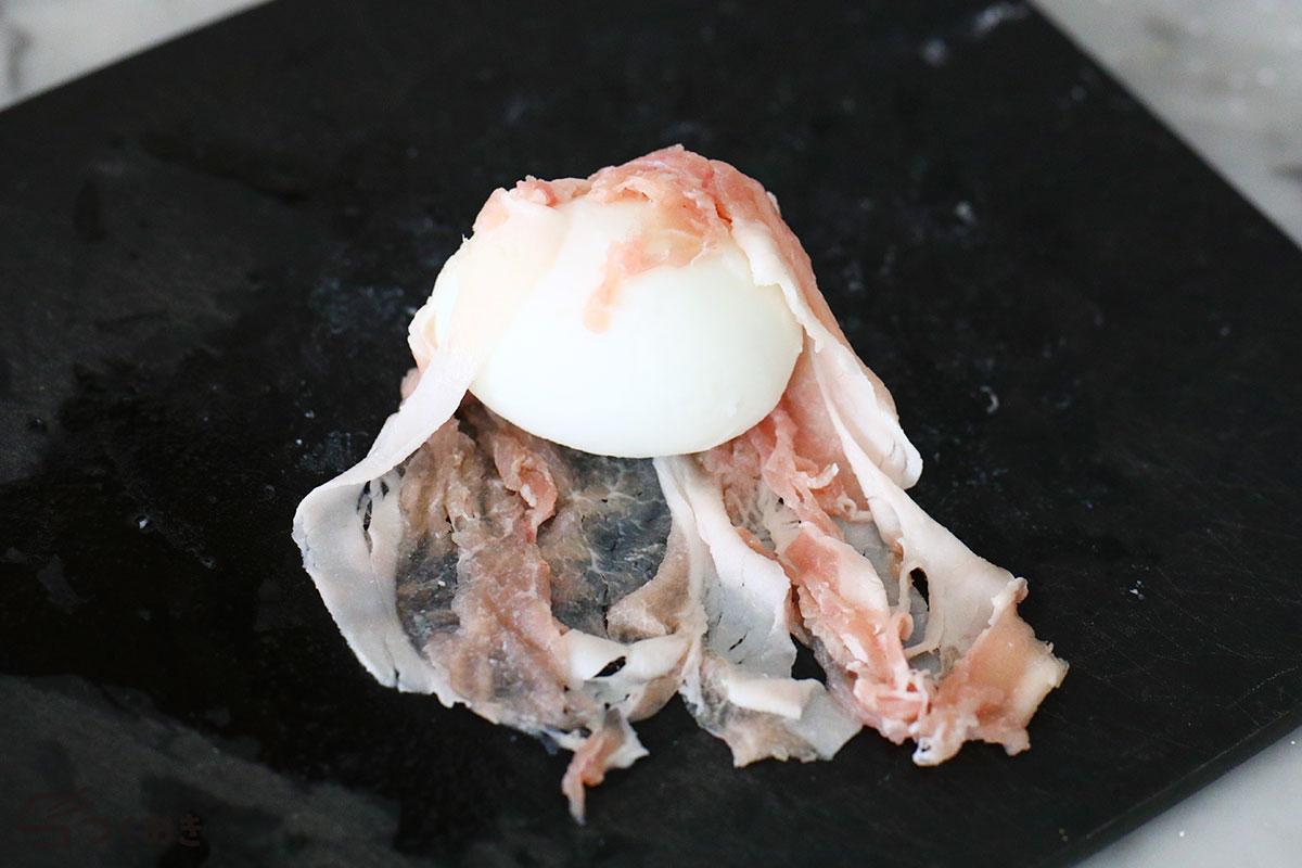 コクうま味の肉巻き卵の手順写真その3