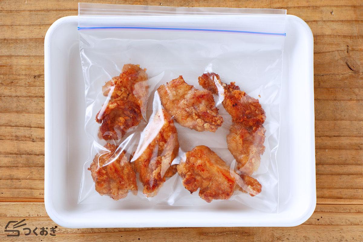 オイスター鶏ももから揚げの冷凍保存写真