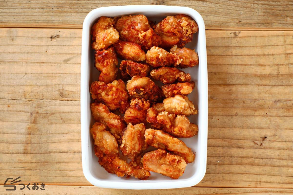 オイスター鶏ももから揚げの冷蔵保存写真