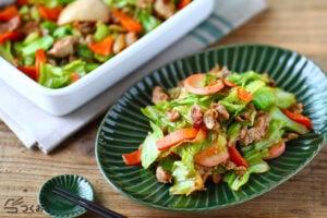 豚肉の野菜炒めの写真