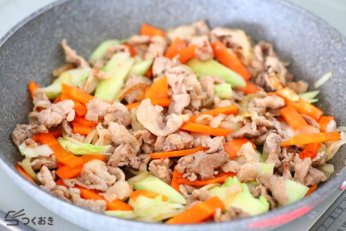 豚肉の野菜炒めの手順写真その1