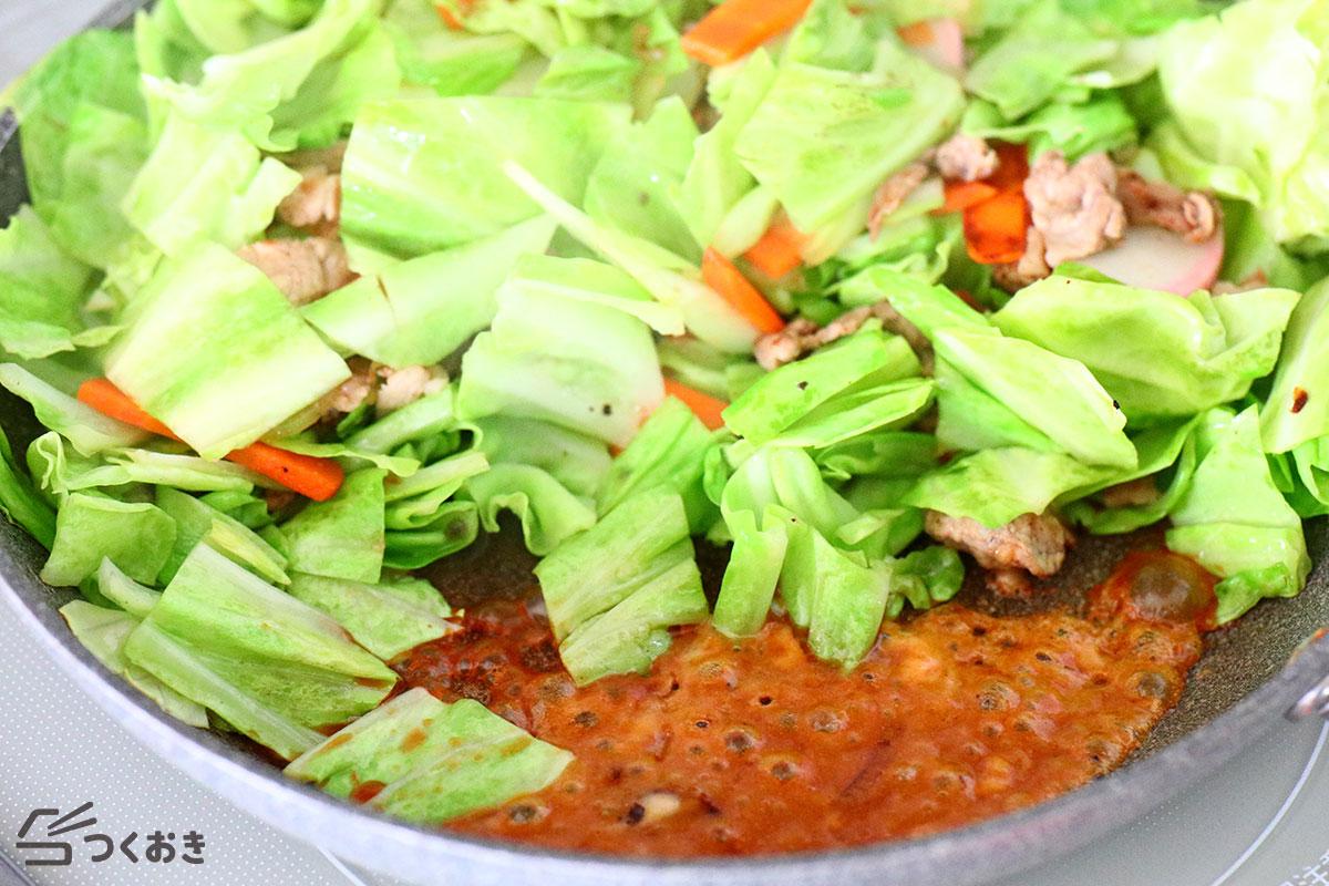 豚肉の野菜炒めの手順写真その2
