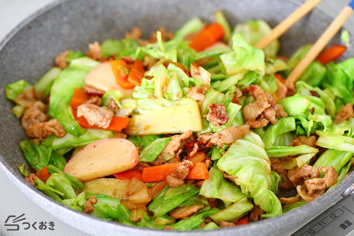 豚肉の野菜炒めの手順写真その3