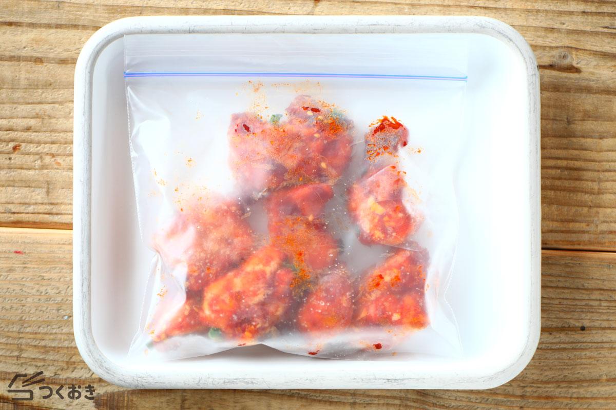 チリチキンの冷凍保存写真