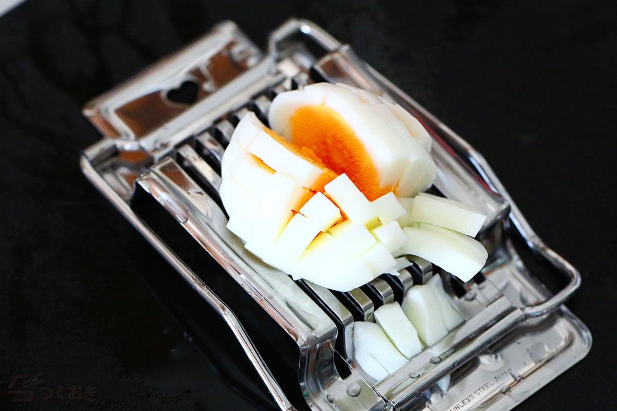 きゅうりと卵のマカロニサラダの手順写真その1