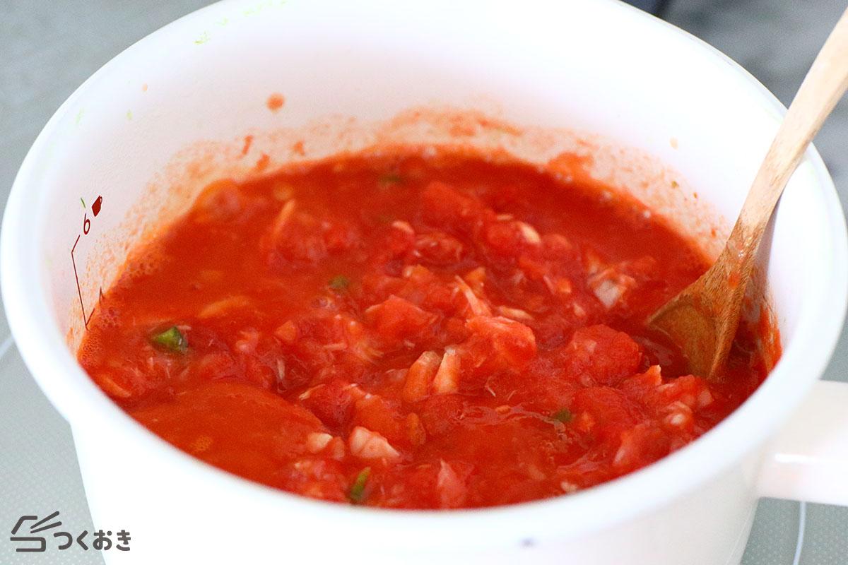 ツナのトマト煮込みの手順写真その1