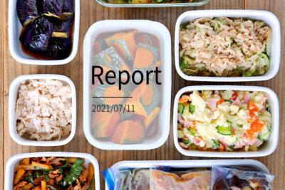 フライパンと鍋でシンプルに10品。週末まとめて作り置きレポート(2021/07/11)