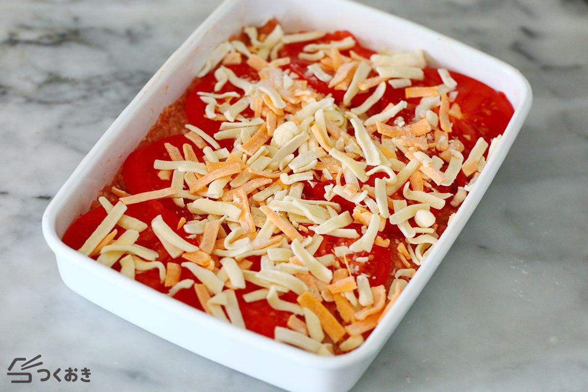 スコップトマトチーズハンバーグの手順写真その2