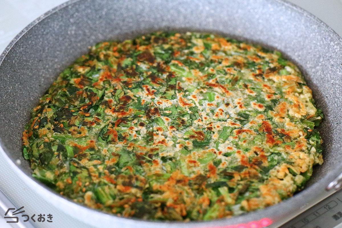 小松菜としらすのチヂミの手順写真その3
