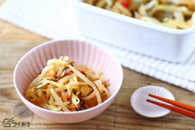 もやしの塩こんぶ梅和えの料理写真