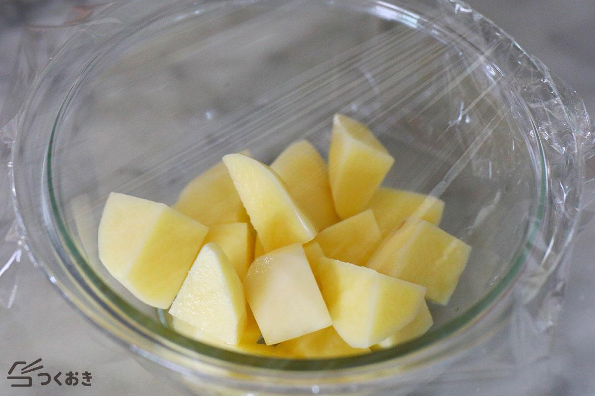 たらこポテトサラダの手順写真その1