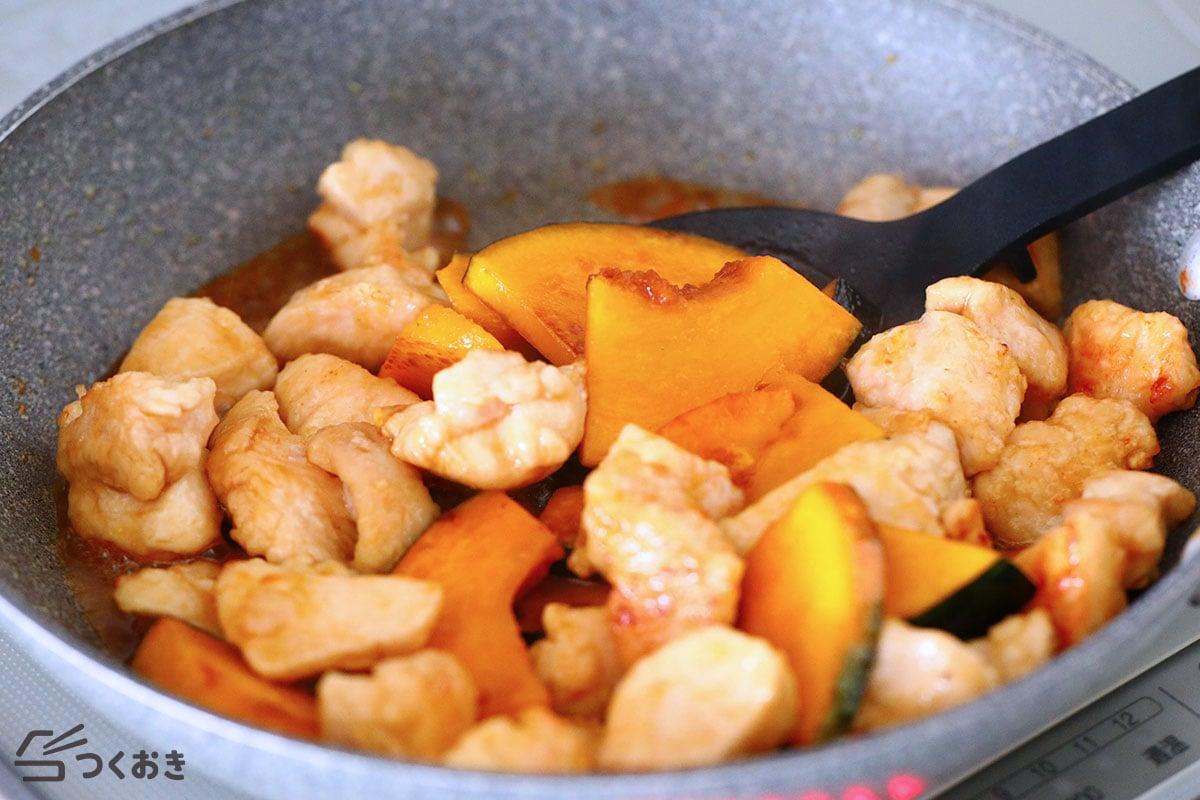 鶏肉とかぼちゃの甘酢炒めの手順写真その3