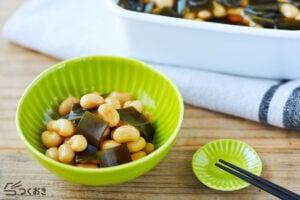 昆布豆の煮物の写真
