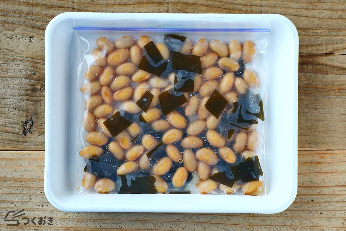 昆布豆の煮物の冷凍保存写真