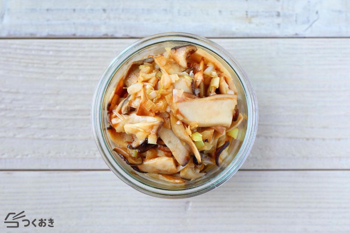 エリンギのやみつき中華風の冷蔵保存写真