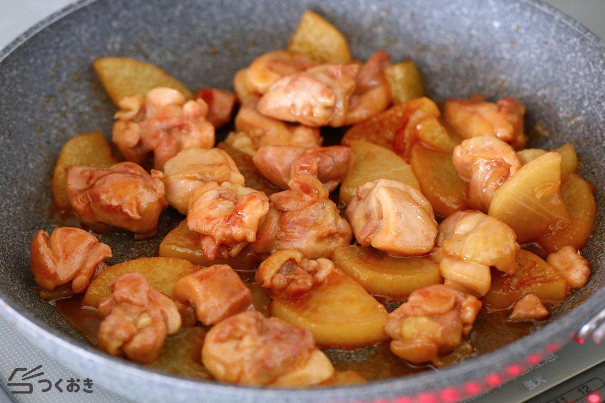 鶏と大根のだし照り煮の手順写真その4