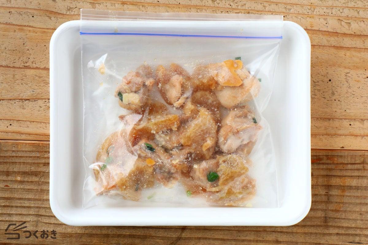 鶏と大根のだし照り煮の冷凍保存写真