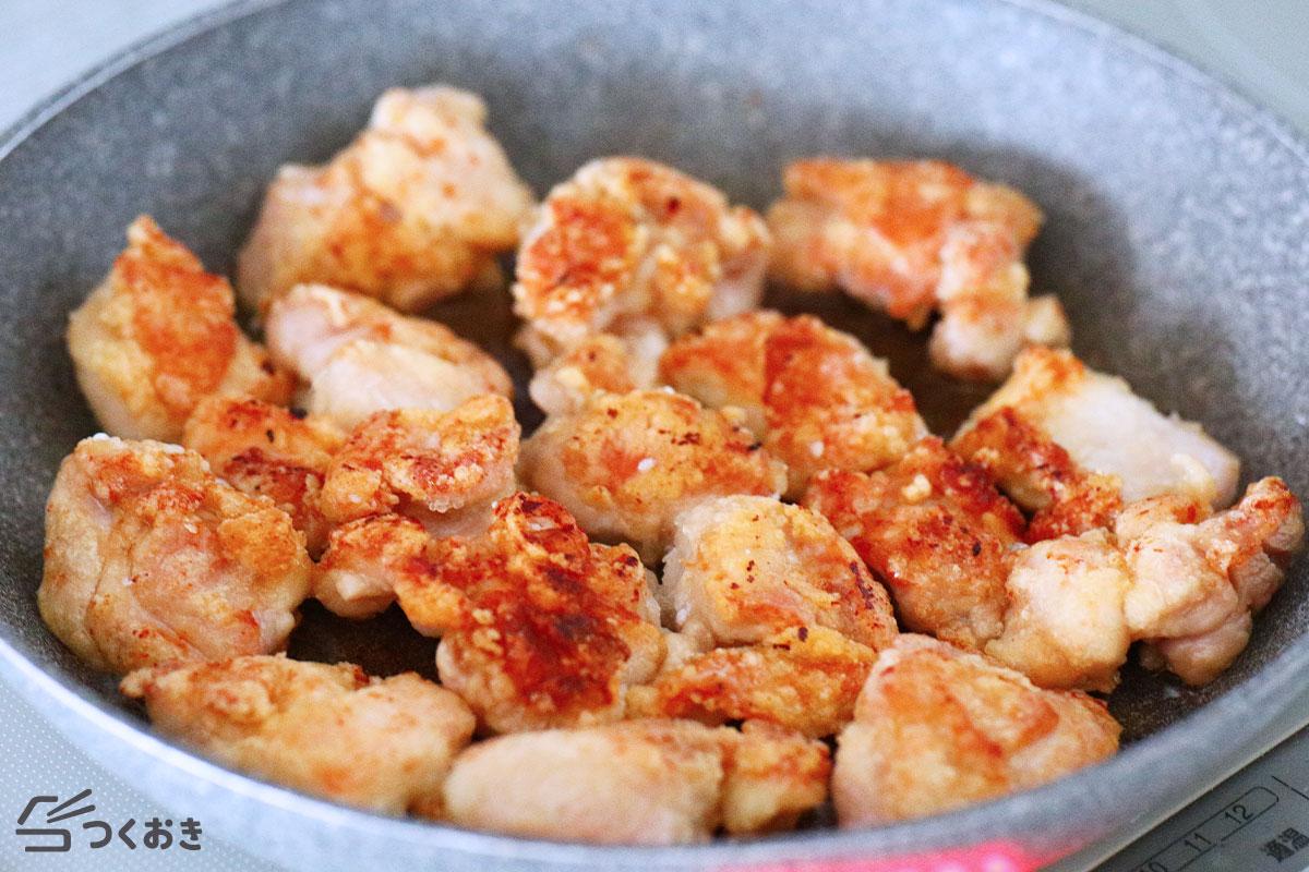 鶏のから揚げポン酢おろしソースの手順写真その2